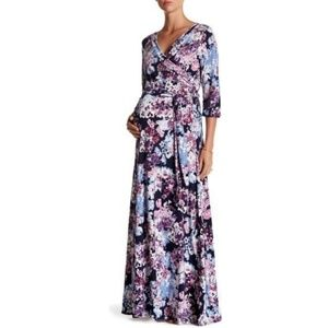 PinkBlush Abstract Floral Maxi Dress (Maternity)